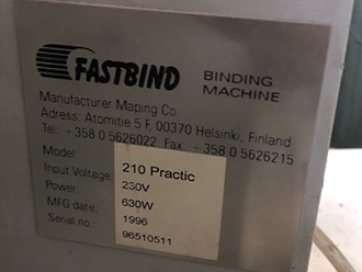 Fastbind 210 Practic